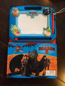 How to Train your Dragon Drawing Board and Book