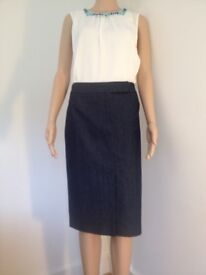 Next denim skirt NEW size 16-20
