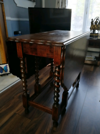 Folding dining table circa 1900 collection only