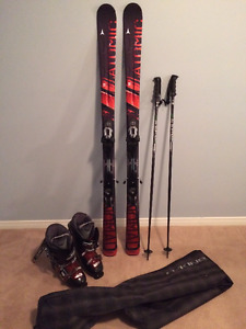 Men's Downhill Skis, Poles, Boots & Bag (Only Used Once)