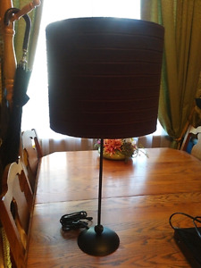 Chocolate brown lamp