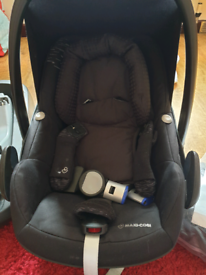 Maxi-cosi baby car set +isofix+footmuff+rain cover
