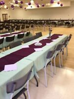 Table Linens for Sale- $250 for 40+ Table Cloths PLUS Runners!