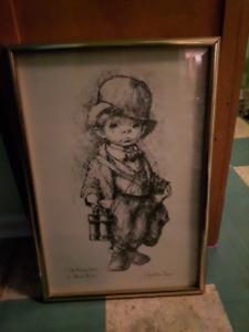 Vintage Signed Print by Leighton Jones