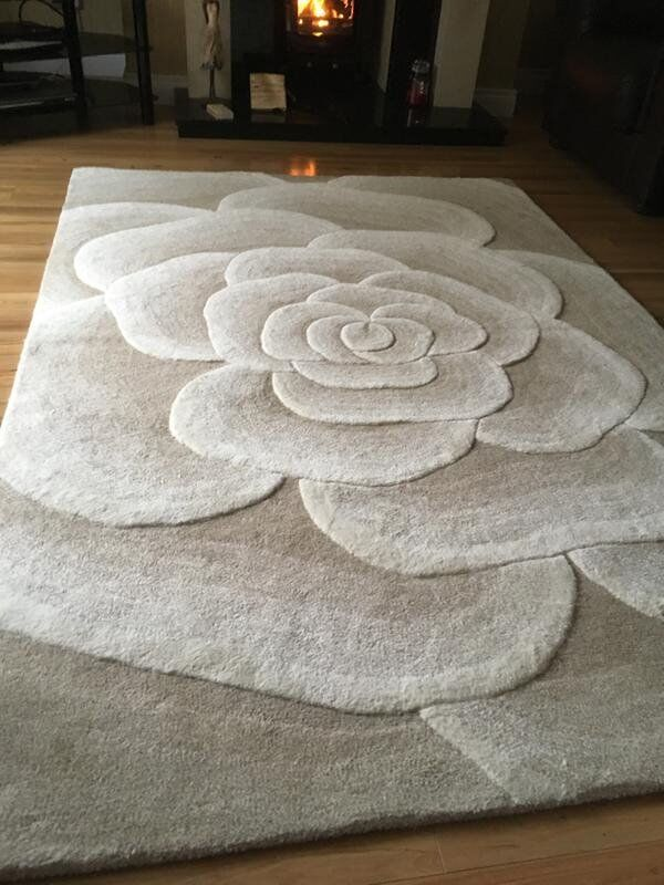 🌟🌟 NEW 3D Large 100% Wool Rug £110 ono 🌟🌟
