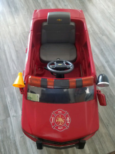 Tahoe Chevy Fire Fighter ride on car 12 V