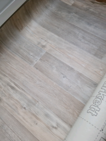 Vinyl-Lino Flooring. Light Oak