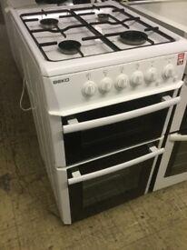 Beko bright white Gas Cooker