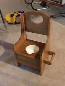 """""""Bateman House"""" wooden training potty. Great condition."""