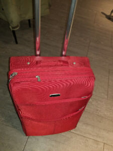Red Mancini Luggage Travel Bag Hardly Used