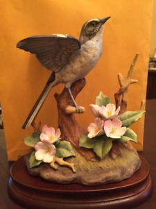 "Authentic ""Andrea"" fine porcelain Mocking Bird # 6062"