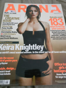 Magazine - Arena (UK) August 2004 Keira Knightley (Like New)