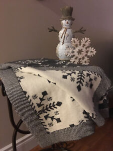 Reversible Throw Blanket and  Decor
