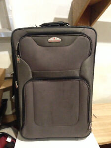 suitcases and computer bags