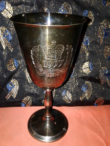Rare 1977 The Queen Silver Jubilee Goblet Cup Stein