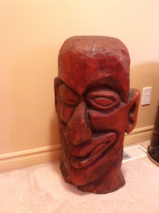 SOLID WOOD CARVED HEAD