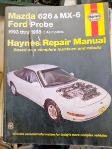 Haynes manual for Mazda 6 2 6 and MX6 and Ford Probe