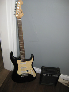 Lyon 6 String Electric Guitar and Speaker Amp