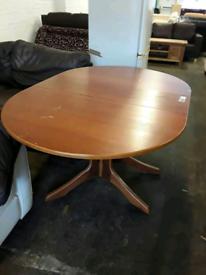 Drop leaf wooden table £45
