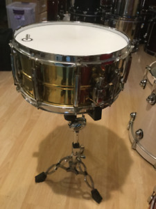 DRUM,BATTERIE,SNARE PEARL SESITONE BRASS 6.5X14