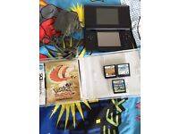 Nintendo DS Lite & 3 games & charger