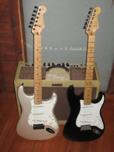 Fender Stratocaster USA et ampli Fender Blues Deluxe tweed