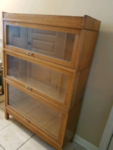 Antique Barrister Bookcase with locks made by: Prestonia