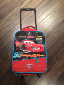 Kids Lightning McQueen Backpack and Rolling Suitcase