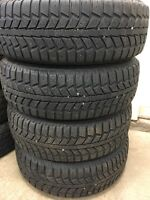 Set of 185/70R14 tires and wheels
