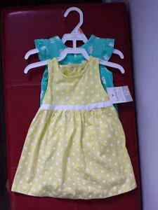 Brand new with tags dress and romper size 12 months