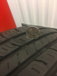 "4 all season tires, 15"" , no rims"