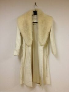 A vendre : Off White Real Leather Real Fur Size 0 Coat.