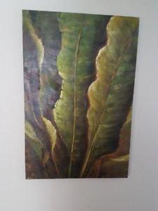 Lovely Green Leaves Canvas