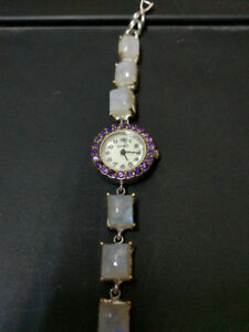 Moonstone Amethyst and Mother of Pearl Watch *Mother's Day Sale*