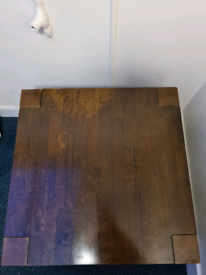 Brown Square Table x2