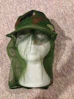 Camouflage mosquito netting hat