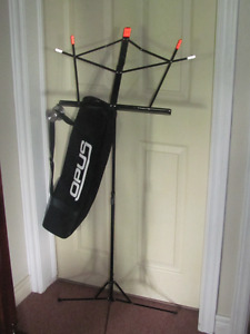 Foldable, adjustable music stand