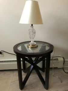 **2 Matching Round Night Stand OR Corner Tables**
