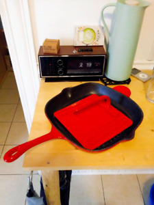 Cast Iron Grill Pan/Panini Press
