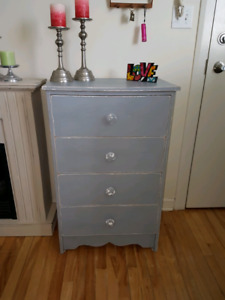 Rustic tall boy dresser with deep drawers