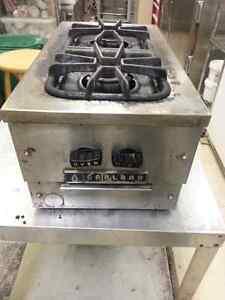 2 burner Garland commercial gas stove/range