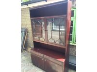 Display cabinet glass front free to collector
