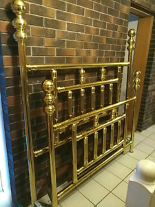 Solid Brass queen headboard and footboard