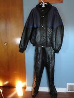 leather snowsuit