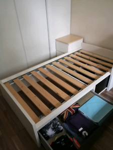 Ikea single bed with two drawers