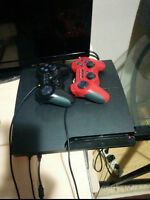 Ps3 Slim With 3 Controllers + 11 Games And All Cords