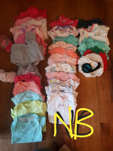 BB GIRL CLOTHING NB - 3-6M  + OTHER ITEMS  From smoke free pet f