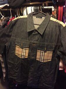 XL Sean John Jean Jacket With Burberry Pattern $60 OBO