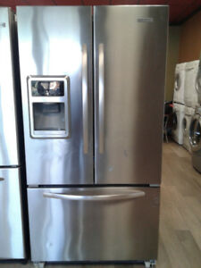 "36"" KITCHEN AID FRENCH DOOR WITH ICE MAKER REFRIGERATOR"