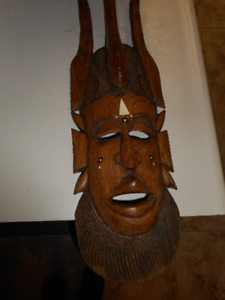 Tropical Wood African Mask